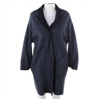 Yves Salomon Blue Shearling Coat for Women
