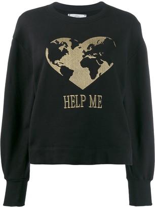Alberta Ferretti Heart Embroidered Sweatshirt