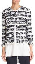 St. John Striped Knit Jacket