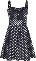 Apricot Mint & White Polka Dot Print Skater Dress