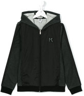 Karl Lagerfeld zipped hoodie - kids - Cotton/Polyamide/Polyester - 14 yrs