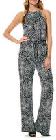 Laundry by Shelli Segal Graphic Print Jumpsuit