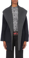 Diane von Furstenberg Open-collar wool-blend coat