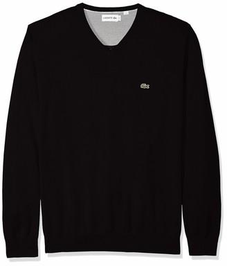 Lacoste Men's Long Sleeve Half Moon V Neck Jersey Sweater