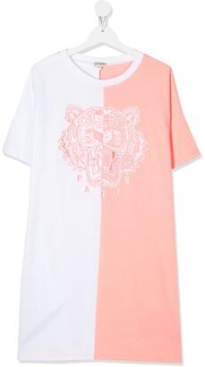 Kenzo TEEN two-tone T-shirt dress