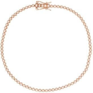 Eva Fehren 18kt rose gold 1mm Line diamond bracelet