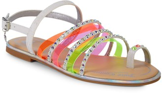 Juicy Couture Kid's Cambria Studded Strappy Sandals