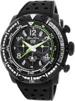 Glam Rock Men's MB26104 Miami Beach Rescue Team Chronograph Carbon Fiber Dial Silicone Watch