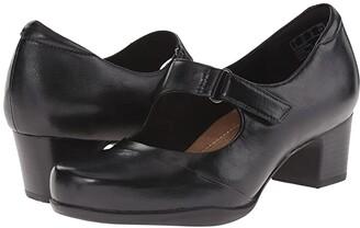 Clarks Rosalyn Wren (Black Leather) High Heels