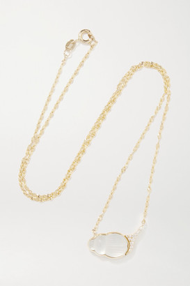 Lito 14-karat Gold, Mother-of-pearl And Diamond Necklace