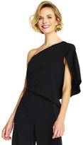 Adrianna Papell AP1D101319 One Shoulder Flutter Sleeve Jumpsuit