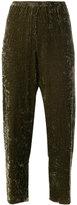 Forte Forte cropped velvet trousers