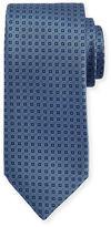 Brioni Textured Square-Print Silk Tie