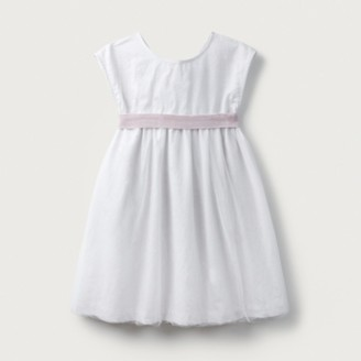 The White Company Bow Detail-Dress (1-6yrs), Champagne, 3-4yrs