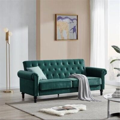 Thumbnail for your product : Alcott Hill Classic Sofa Couch, Mid-century Upholstered Velvet Fabric Tufted Sofa