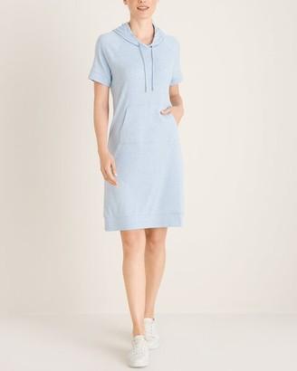 Zenergy Pima Cotton Striped Hoodie Dress