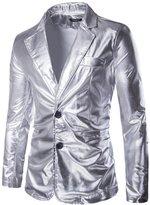 Mada Men's Slim Fit Metallic Color Performance Suit Jackets Asian Large