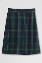 Lands' End Women's Regular Plaid A-line Skirt