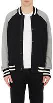 Rag & Bone Men's Arden Cotton Varsity Jacket-BLACK