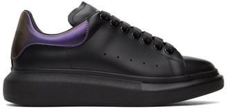 Alexander McQueen Black and Purple Oversized Sneakers