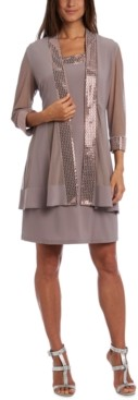 R & M Richards Embellished Chevron-Trim Dress & Jacket