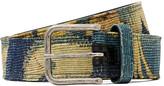 Dries Van Noten 3.5cm Leather-Backed Printed Canvas Belt