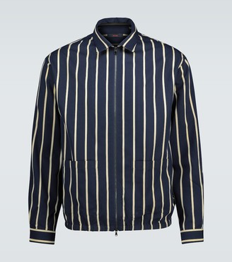 The Gigi Akiko striped bomber jacket