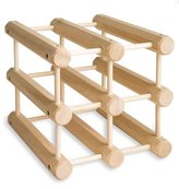 J.K. Adams MWR-6-N Hardwood Wine Rack, Natural
