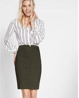 Express Notch Front Pencil Skirt