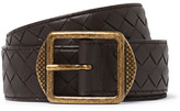 Bottega Veneta 3.5cm Dark-Brown Intrecciato Leather Belt