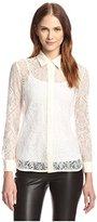 Allison Collection Women's Lace Button-Up Shirt
