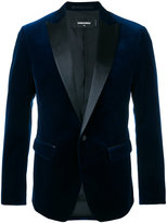 DSQUARED2 velvet jacket with leather lapel