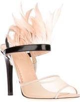 Reed Krakoff feather trim sandal