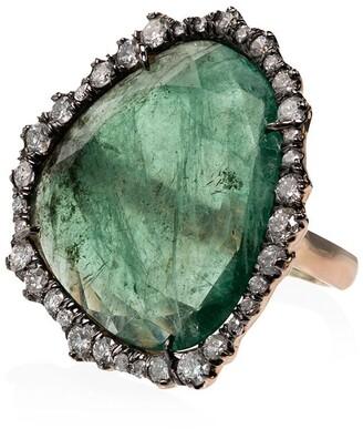 Kimberly 18kt Yellow Gold Emerald Slice Diamond Ring