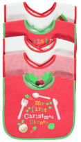 George My First Christmas 5 Pack Bibs