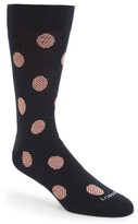 Lorenzo Uomo Men's Striped Dots Socks