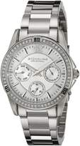Stuhrling Original Women's 914.01 Symphony Helena Analog Display Quartz Silver Day and Date Watch