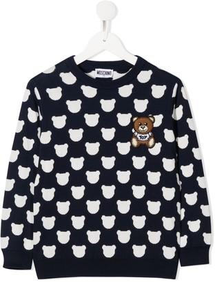 MOSCHINO BAMBINO Teddy Bear cotton jumper