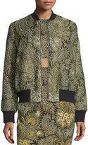 Suno Paisley Bomber Jacket, Green