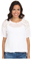 Rebecca Taylor Short Sleeve Patchwork Texture Pullover