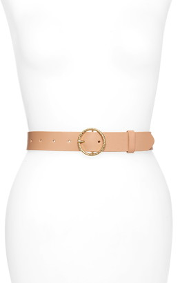 Rachel Parcell Circle Buckle Leather Belt