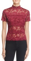 GUESS Shayna Mock Neck Lace Top
