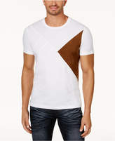 INC International Concepts Men's Colorblocked Faux-Suede T-Shirt, Created for Macy's