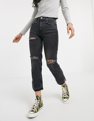 Free People Lita slim leg jean in black