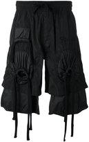 Kokon To Zai embroidered gathered shorts - unisex - Polyester - M