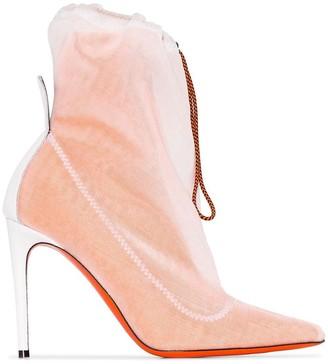 Heron Preston drawstring-layer 100mm ankle boots