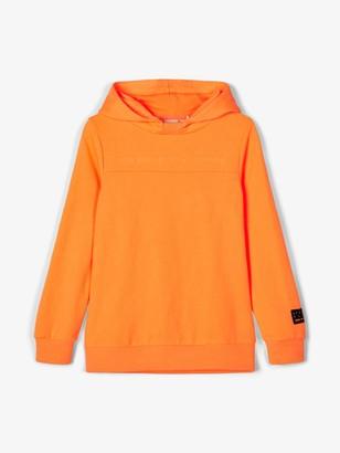 Name It Girl's Nkmdek Ls Boxy Sweat Unb Hooded Sweatshirt