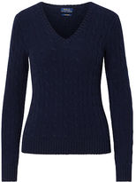 Polo Ralph Lauren Cable Cashmere V-Neck Sweater
