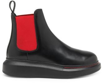 Alexander McQueen Bi-Color Hybrid Leather Chelsea Boots