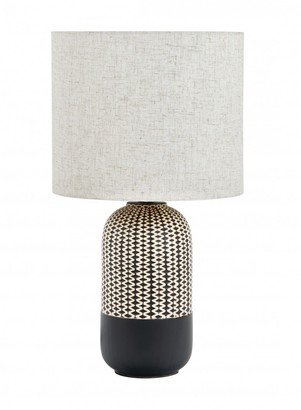 Albi Imports River Table Lamp Black And Natural Pair